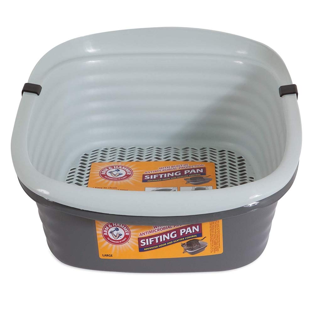 How To Keep A Cat Litter Box Clean Pet Mate Arm & Hammer Large Sifting Litter Pan