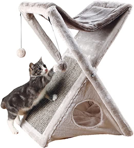 best scratching posts for cats Trixie Pet Products Miguel Fold and Store Cat Tower